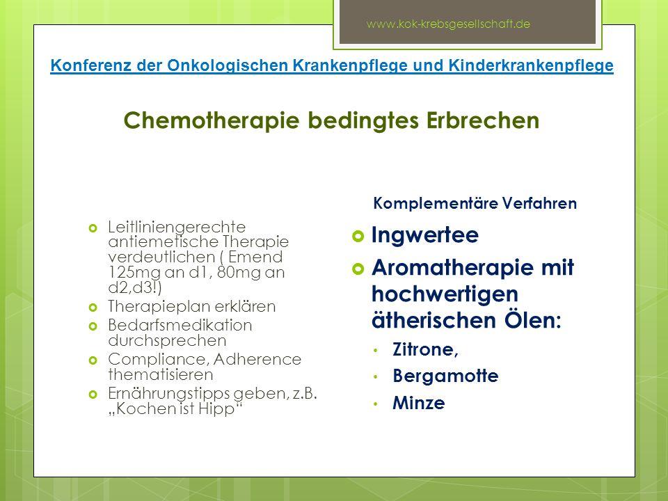 Chemotherapie bedingtes Erbrechen