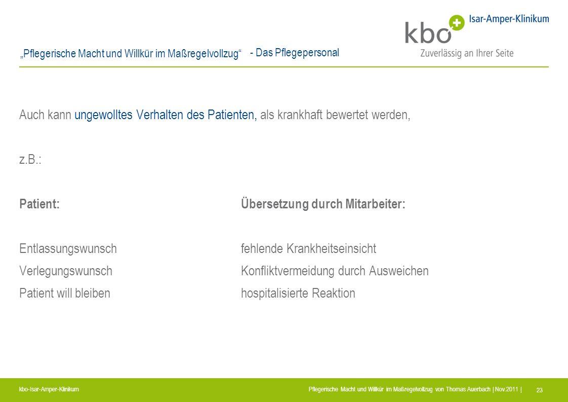 Patient: Übersetzung durch Mitarbeiter:
