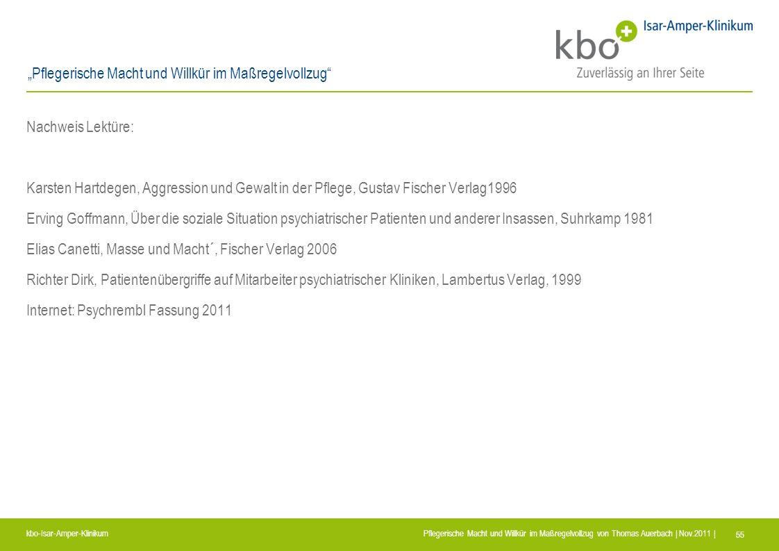 Nachweis Lektüre: Karsten Hartdegen, Aggression und Gewalt in der Pflege, Gustav Fischer Verlag1996.