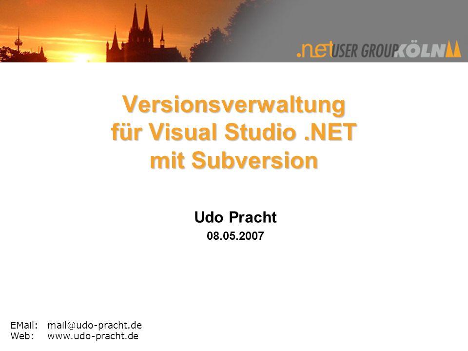 Versionsverwaltung für Visual Studio .NET mit Subversion