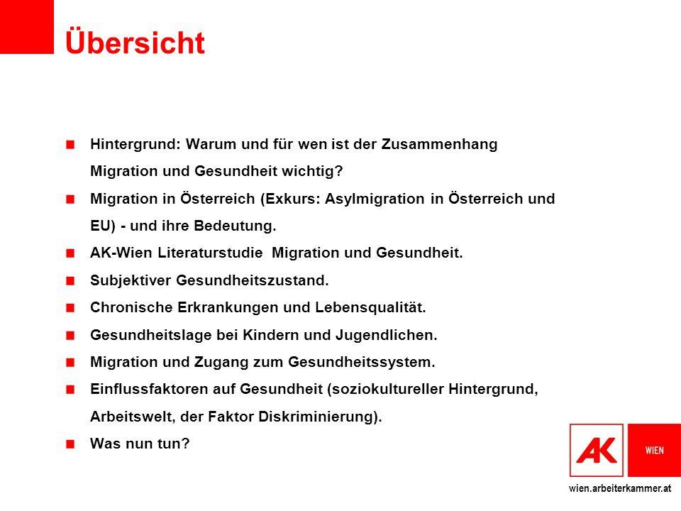 Übersicht Hintergrund: Warum und für wen ist der Zusammenhang Migration und Gesundheit wichtig