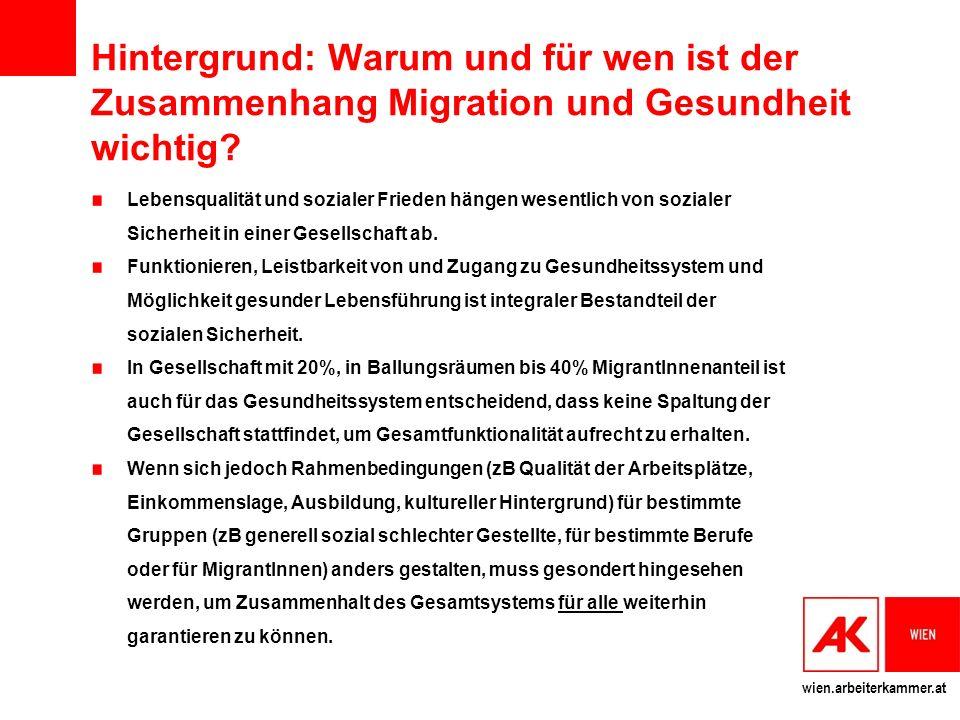 Hintergrund: Warum und für wen ist der Zusammenhang Migration und Gesundheit wichtig