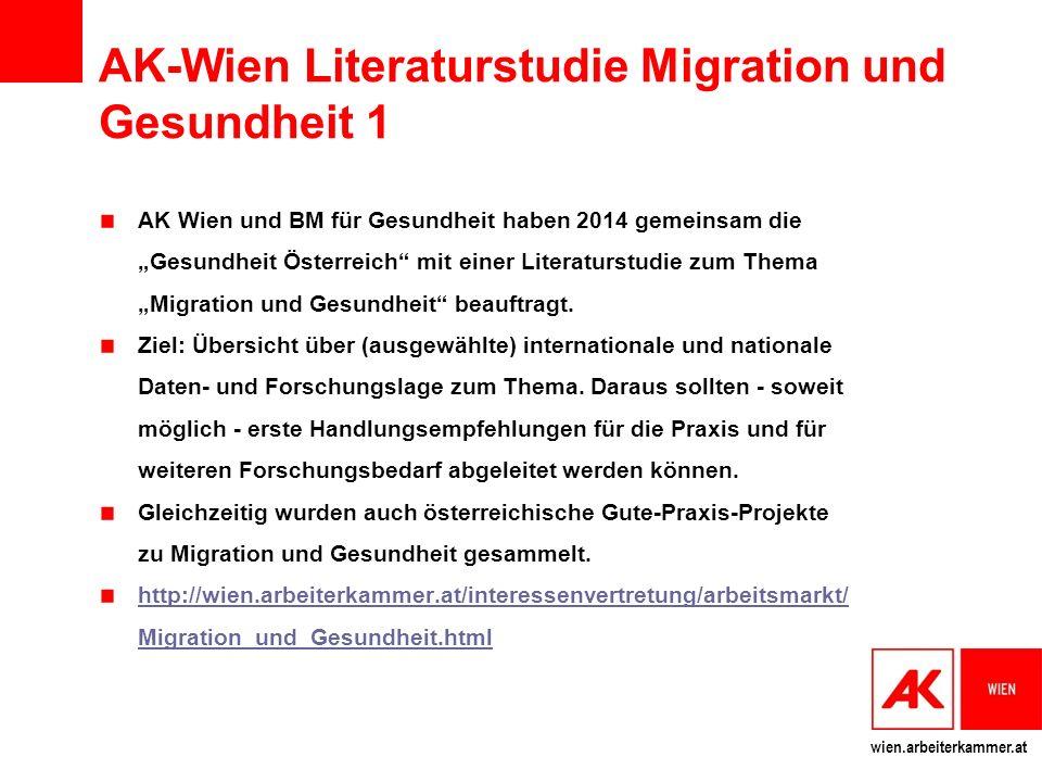 AK-Wien Literaturstudie Migration und Gesundheit 1