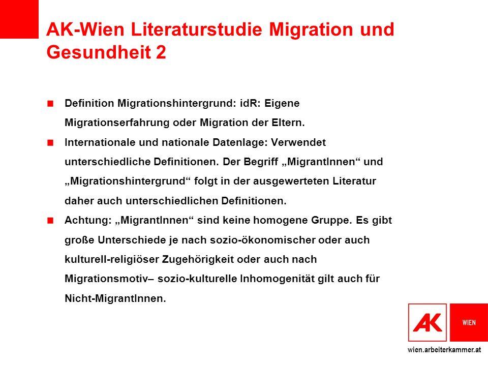 AK-Wien Literaturstudie Migration und Gesundheit 2