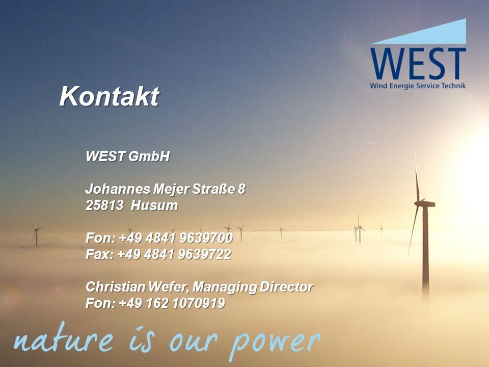Kontakt WEST GmbH Johannes Mejer Straße 8 25813 Husum