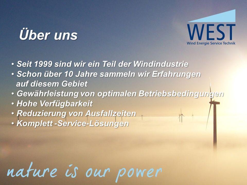 Über uns Seit 1999 sind wir ein Teil der Windindustrie