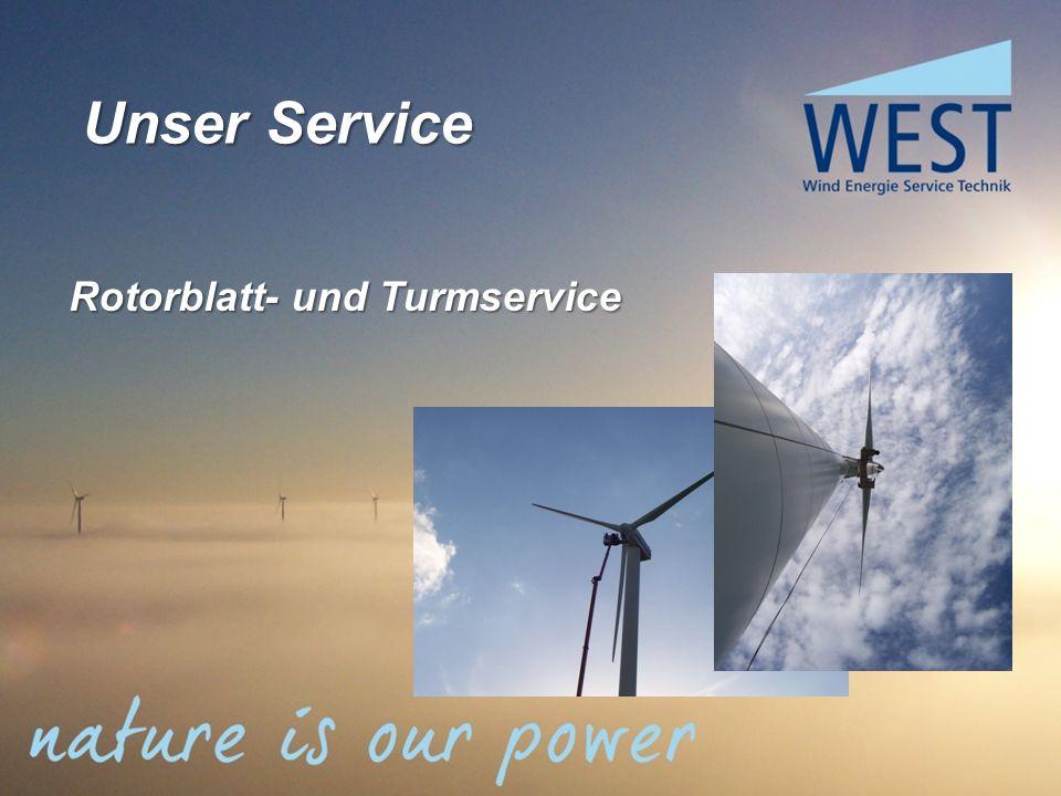 Unser Service Rotorblatt- und Turmservice