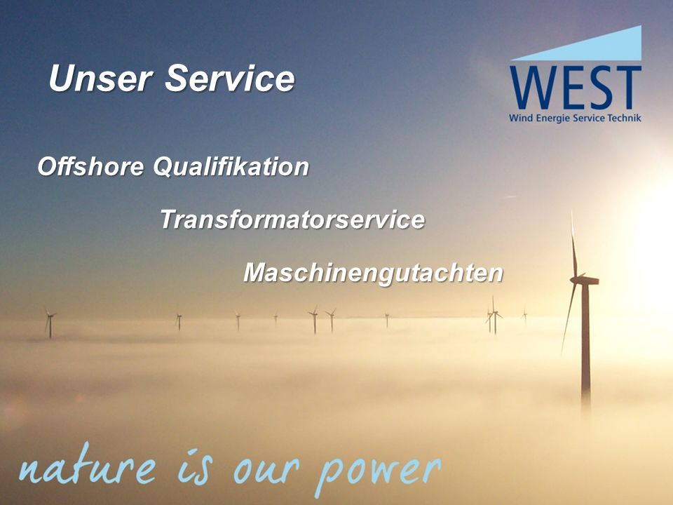 Unser Service Offshore Qualifikation Transformatorservice