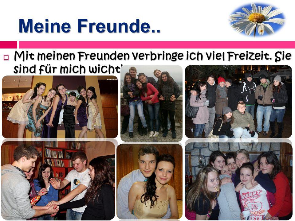 Meine Freunde.. Mit meinen Freunden verbringe ich viel Freizeit. Sie sind für mich wichtig.