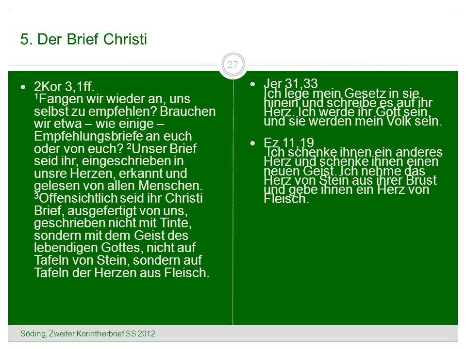 5. Der Brief Christi