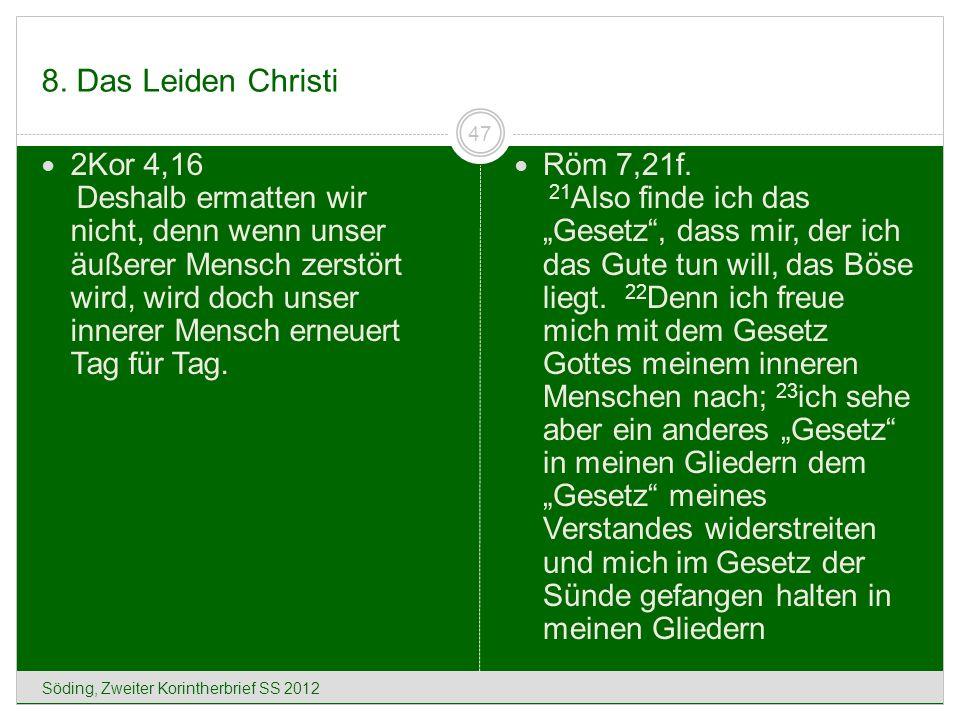 8. Das Leiden Christi