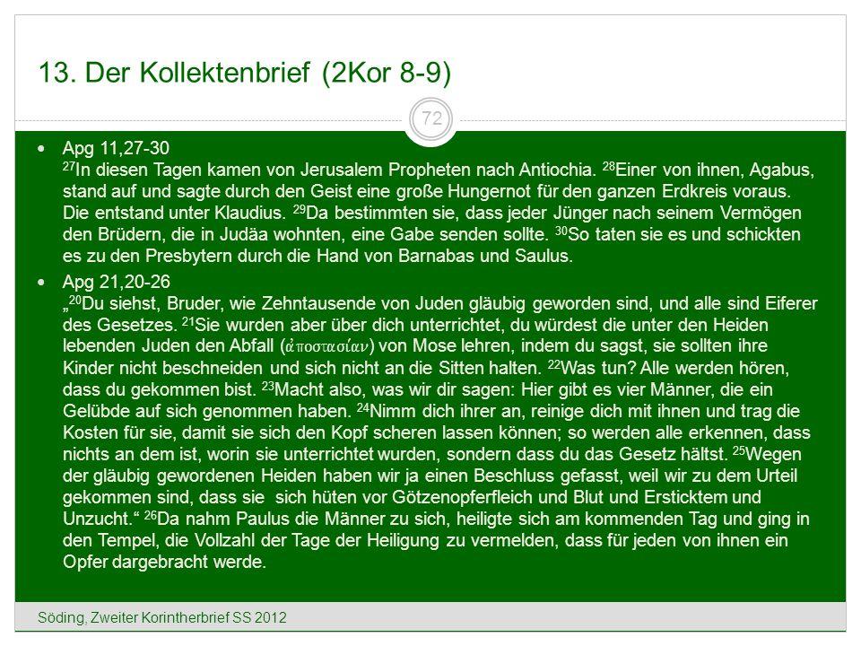 13. Der Kollektenbrief (2Kor 8-9)