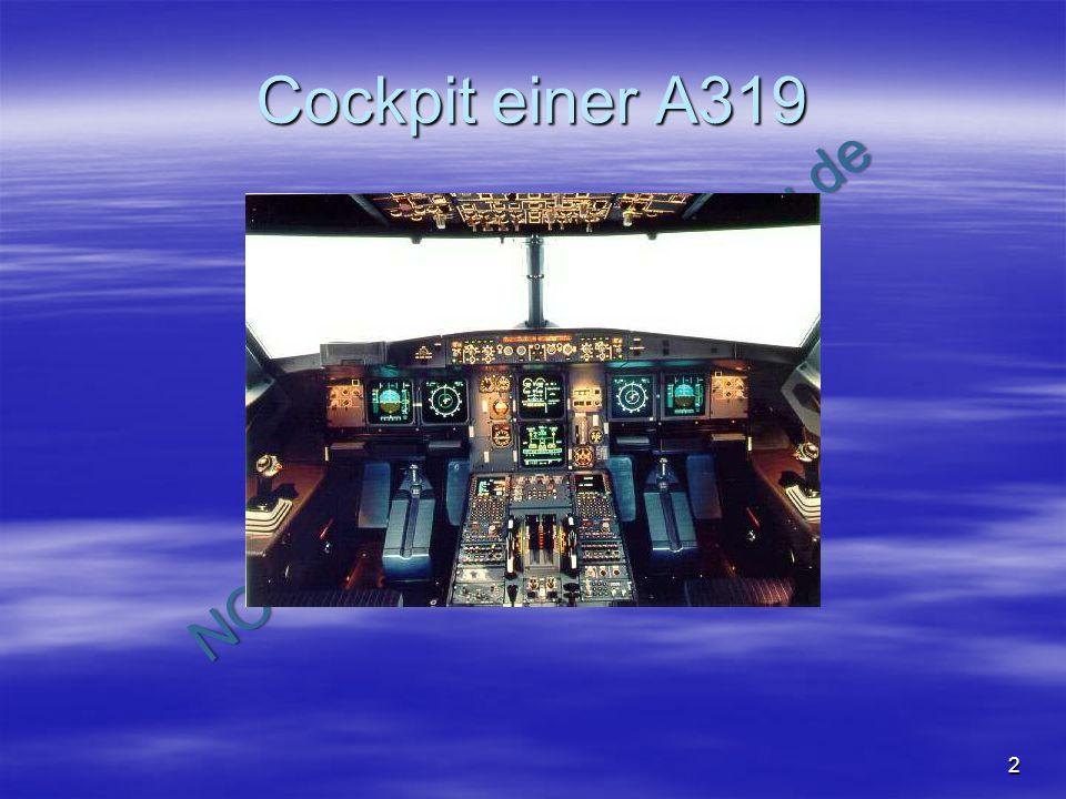 Cockpit einer A319