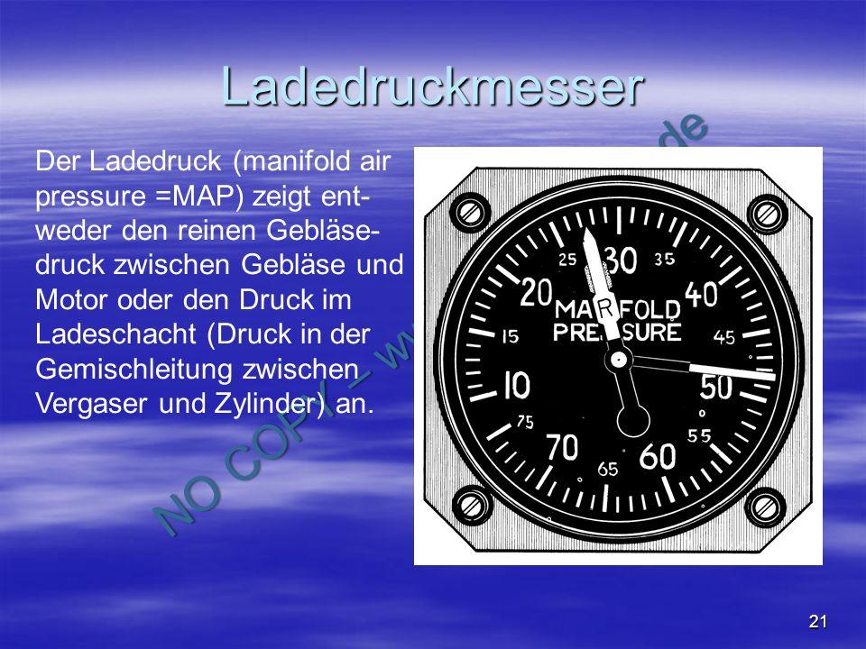 Ladedruckmesser Der Ladedruck (manifold air pressure =MAP) zeigt ent-weder den reinen Gebläse-druck zwischen Gebläse und.