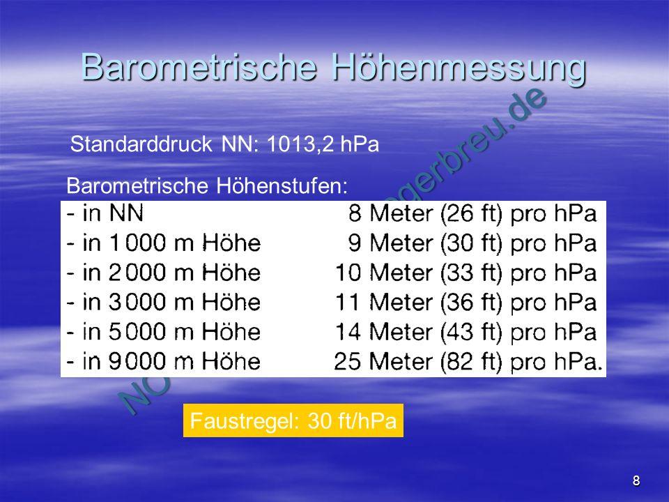 Barometrische Höhenmessung