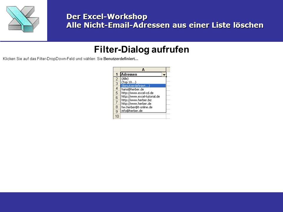 Filter-Dialog aufrufen