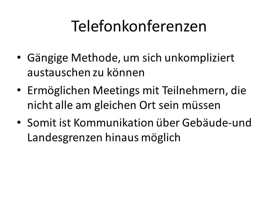 Telefonkonferenzen Gängige Methode, um sich unkompliziert austauschen zu können.