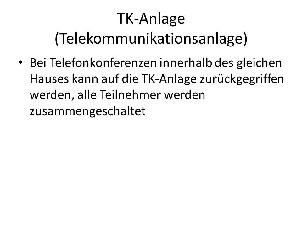 TK-Anlage (Telekommunikationsanlage)
