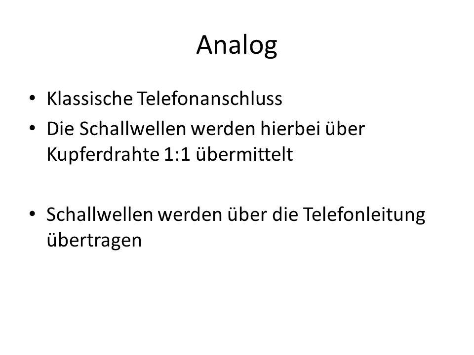 Analog Klassische Telefonanschluss