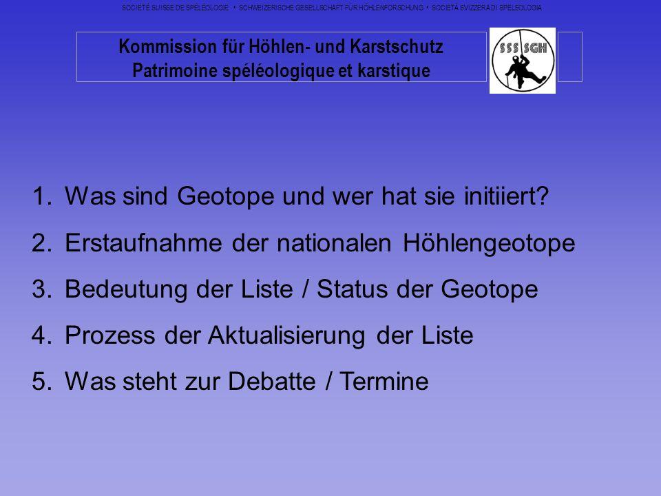 Was sind Geotope und wer hat sie initiiert