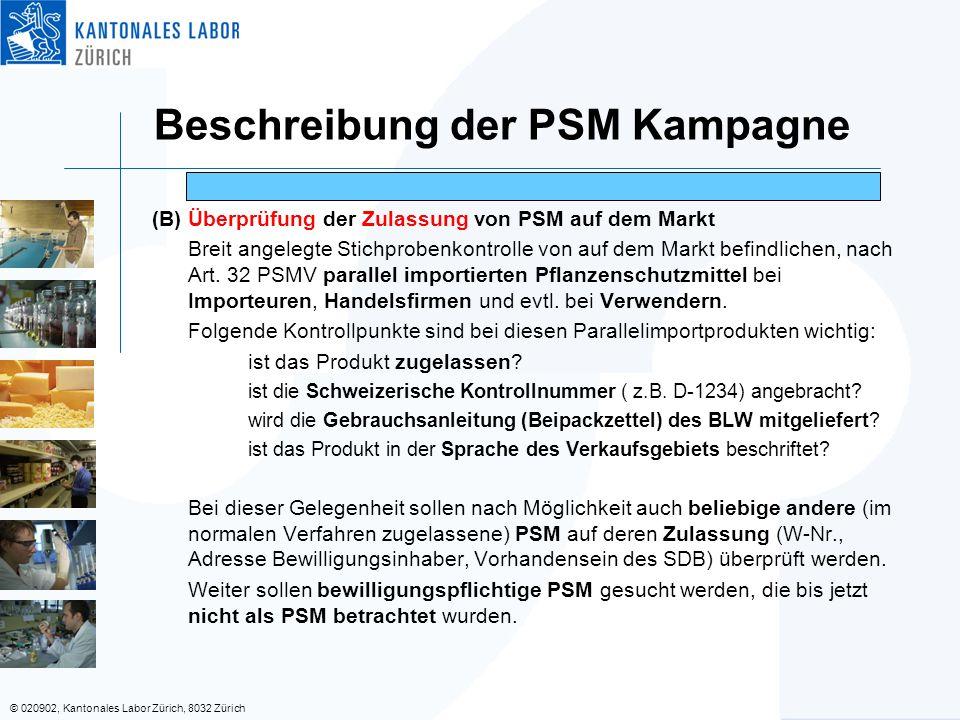 Beschreibung der PSM Kampagne
