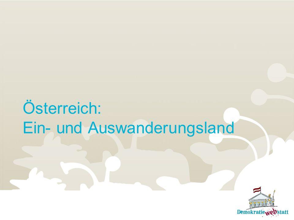 Österreich: Ein- und Auswanderungsland