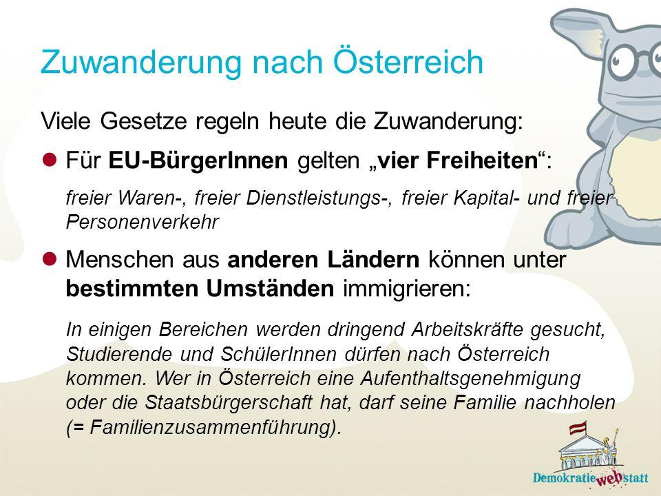 Zuwanderung nach Österreich