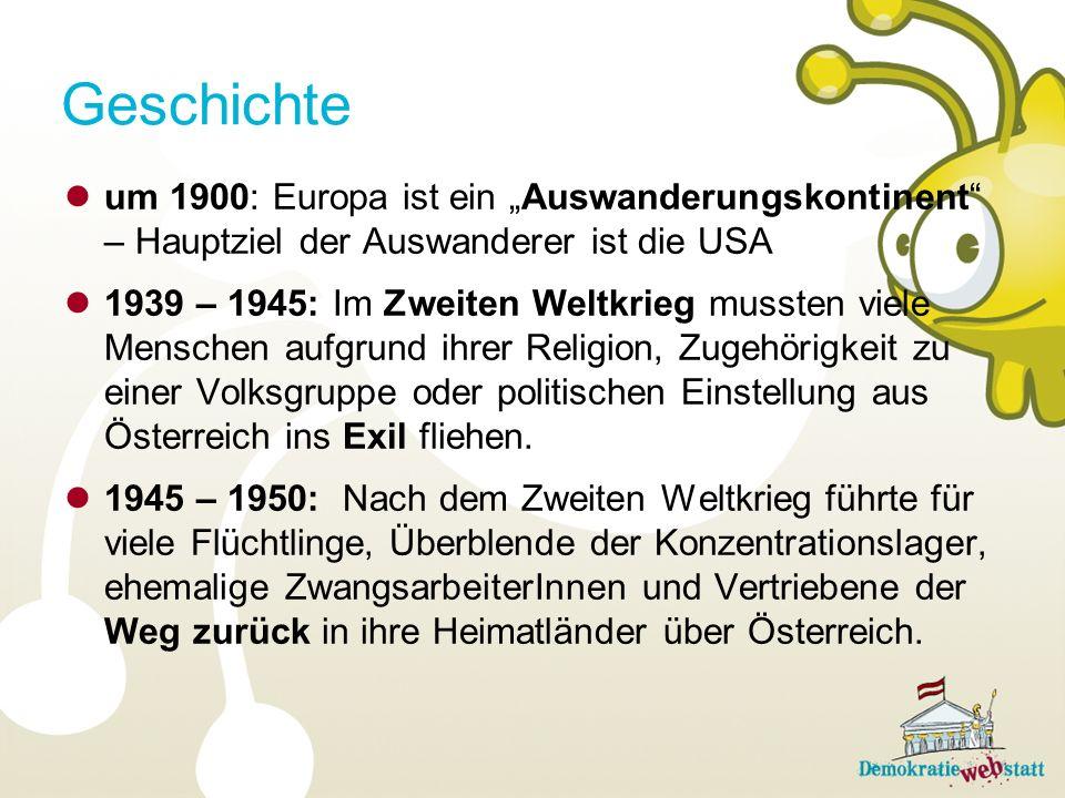 """Geschichte um 1900: Europa ist ein """"Auswanderungskontinent – Hauptziel der Auswanderer ist die USA."""