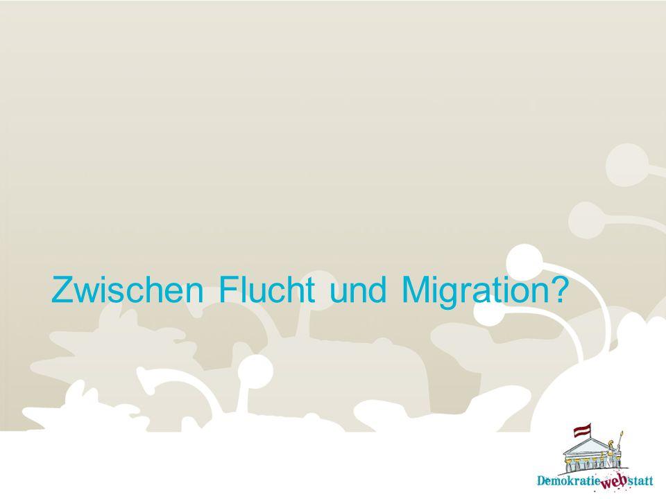 Zwischen Flucht und Migration