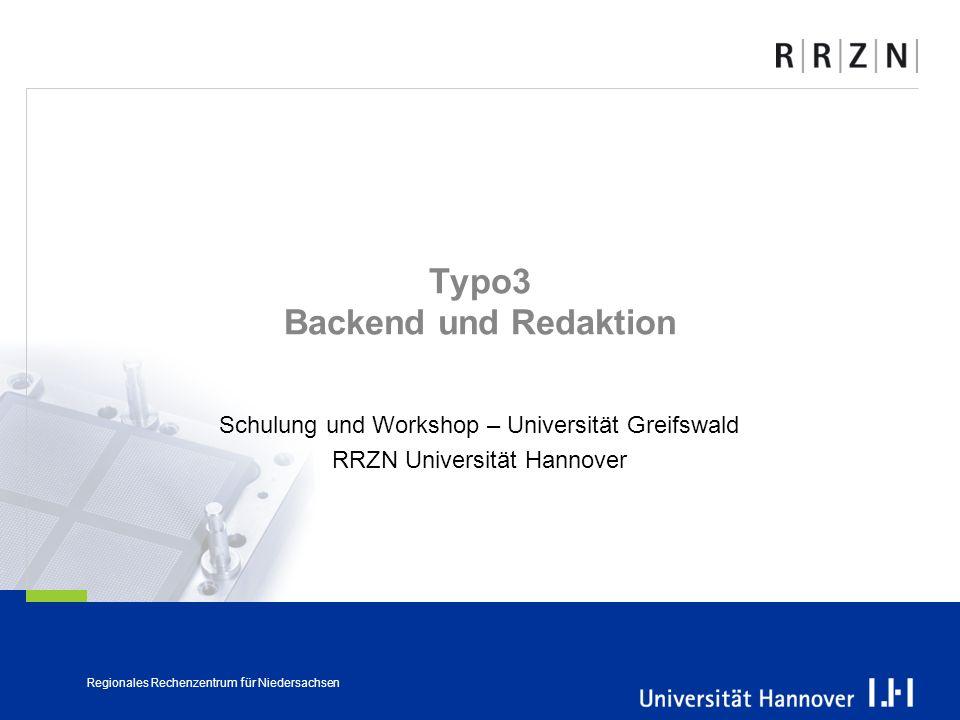 Typo3 Backend und Redaktion