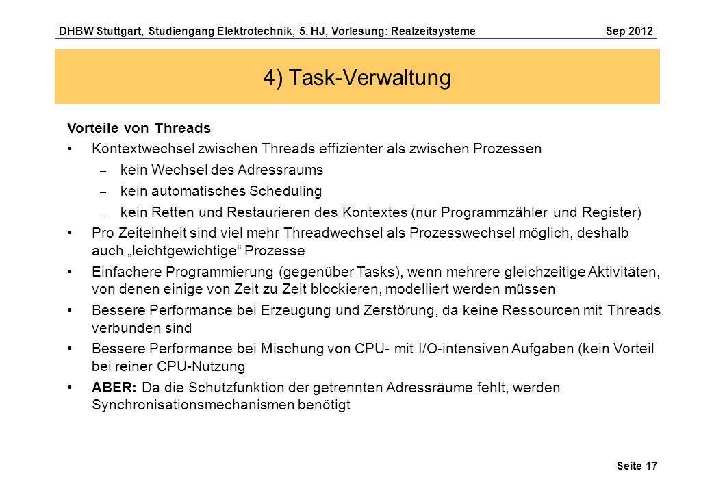 4) Task-Verwaltung Vorteile von Threads