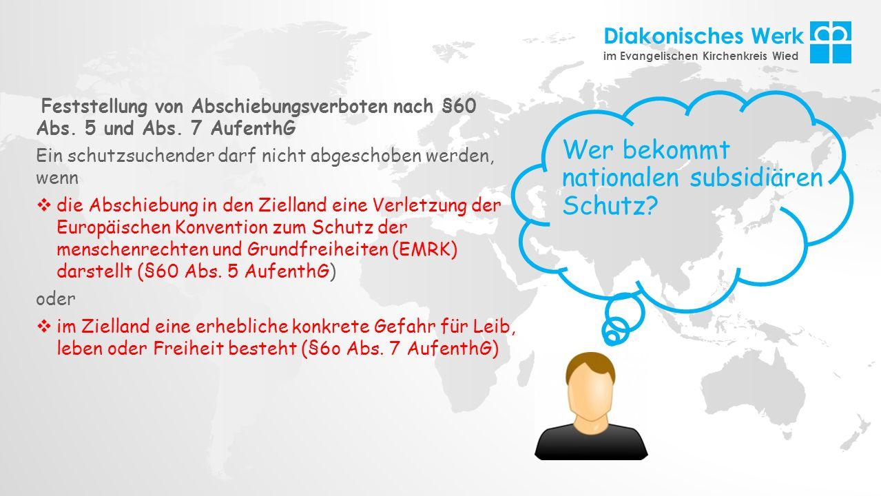 nationalen subsidiären Schutz