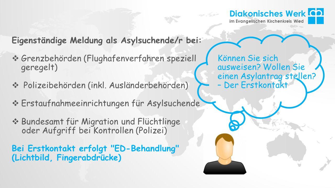 Eigenständige Meldung als Asylsuchende/r bei: