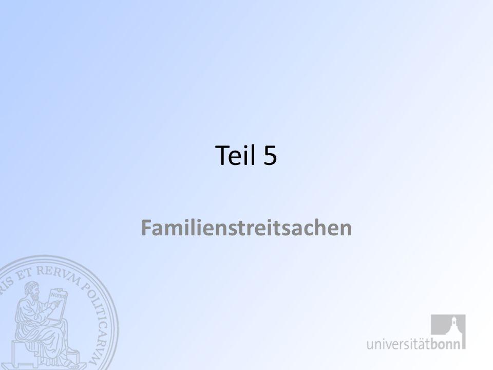 Familienstreitsachen