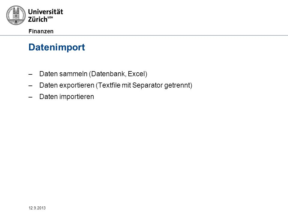 Datenimport Daten sammeln (Datenbank, Excel)