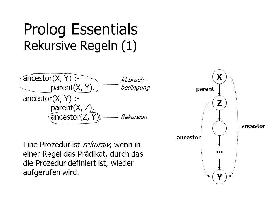 Prolog Essentials Rekursive Regeln (1)