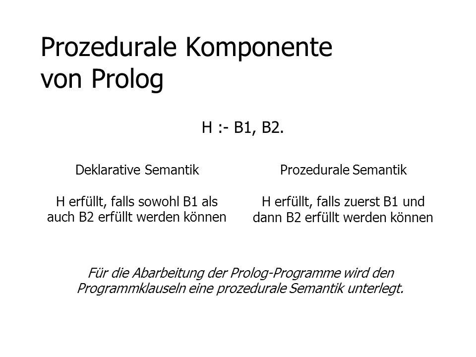 Prozedurale Komponente von Prolog