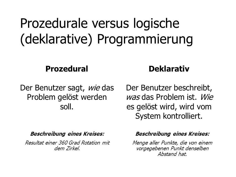 Prozedurale versus logische (deklarative) Programmierung
