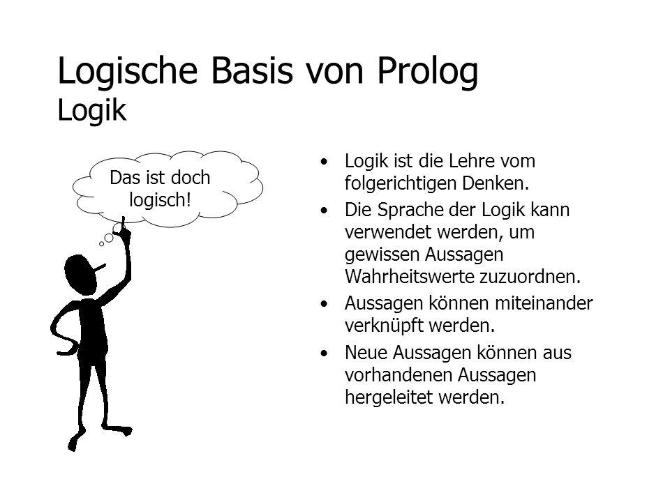 Logische Basis von Prolog Logik