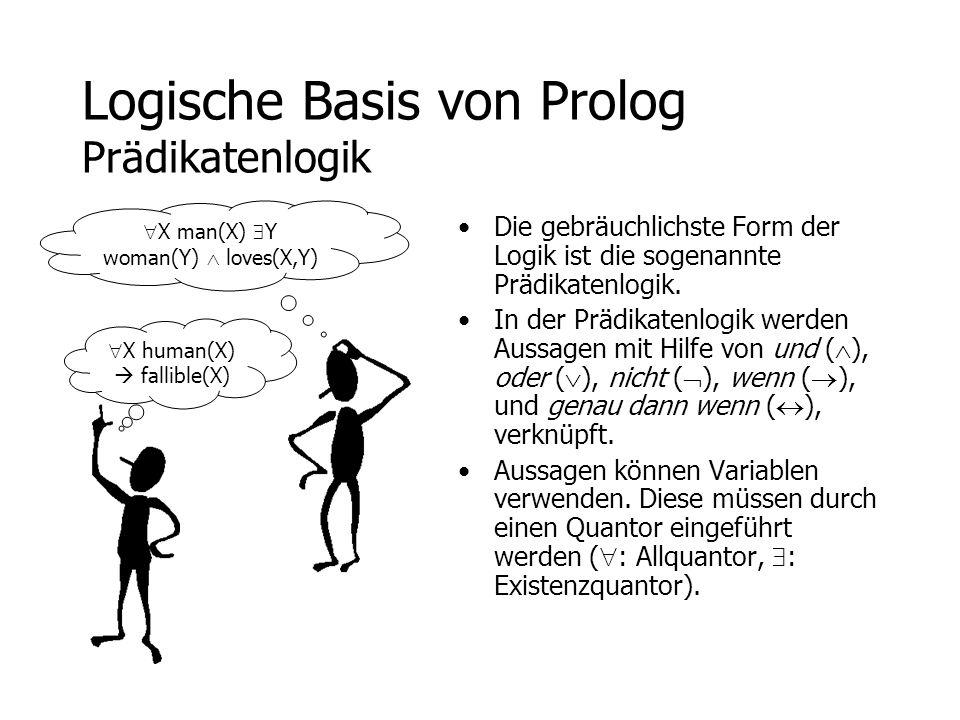 Logische Basis von Prolog Prädikatenlogik