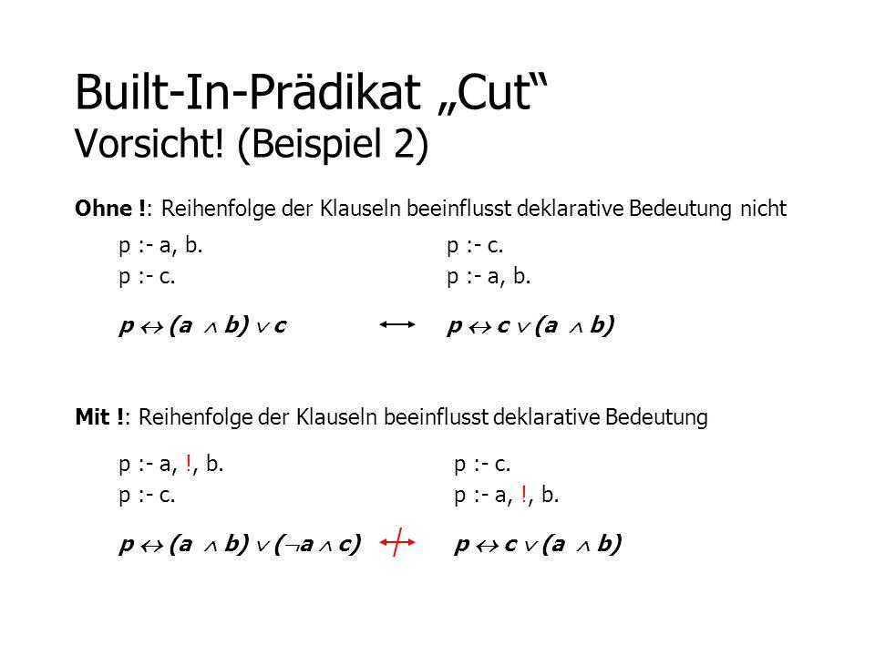 """Built-In-Prädikat """"Cut Vorsicht! (Beispiel 2)"""