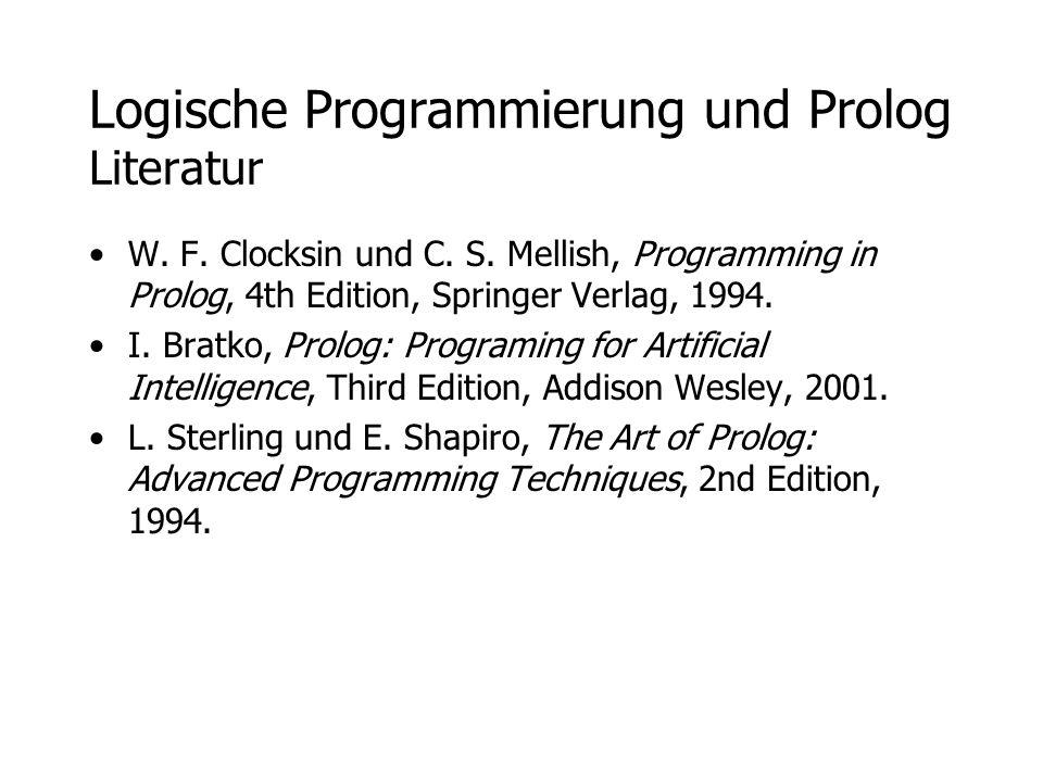 Logische Programmierung und Prolog Literatur