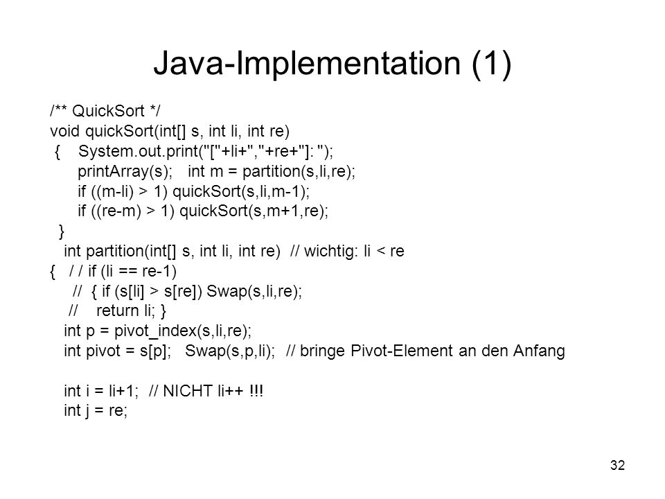 Java-Implementation (1)