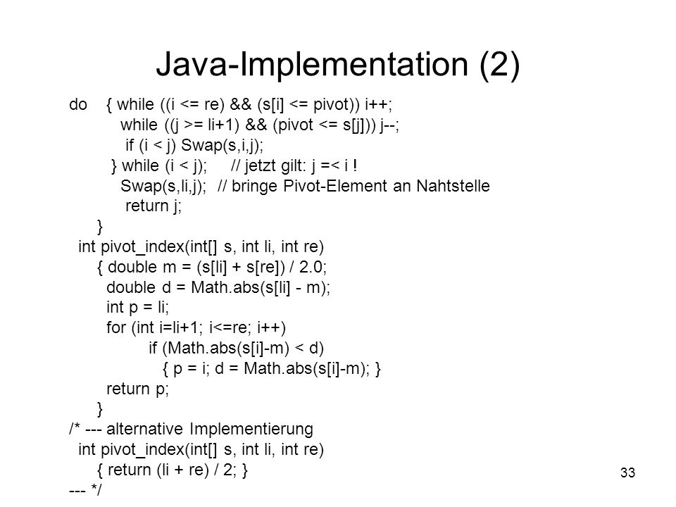 Java-Implementation (2)