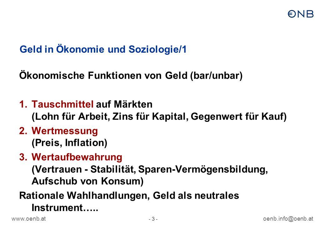 Geld in Ökonomie und Soziologie/1