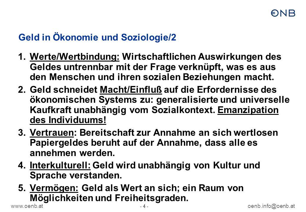 Geld in Ökonomie und Soziologie/2