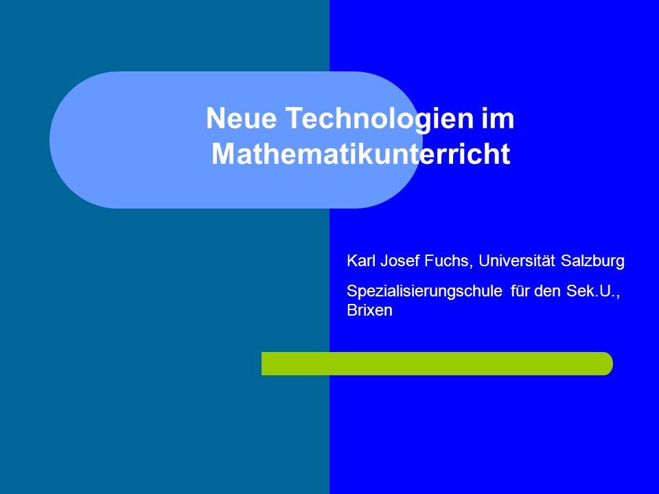 Neue Technologien im Mathematikunterricht