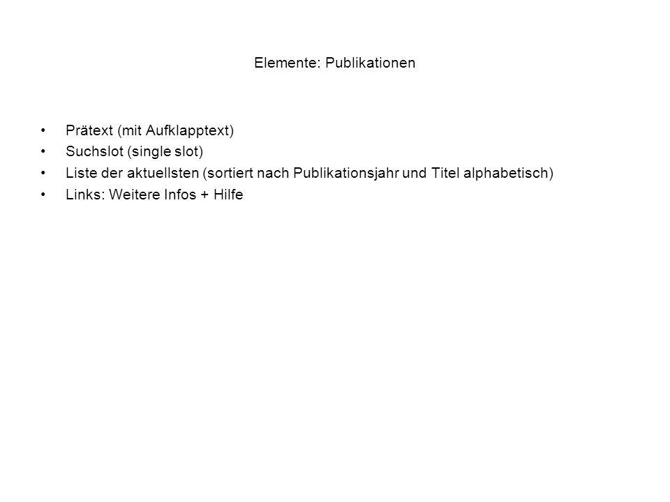 Elemente: Publikationen