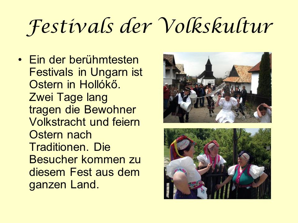 Festivals der Volkskultur
