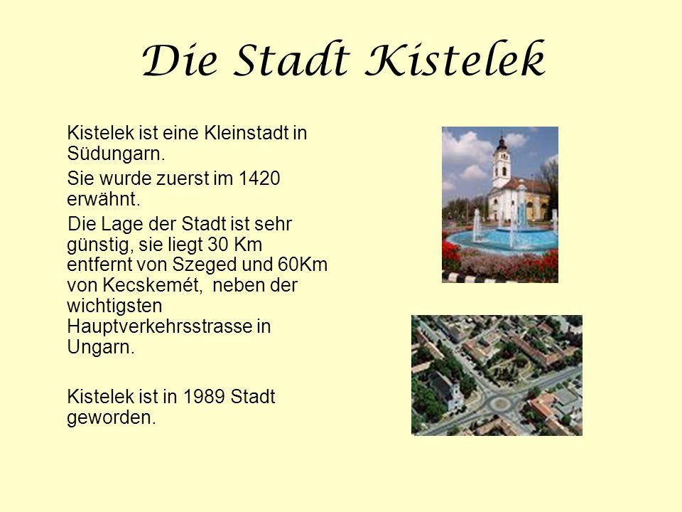 Die Stadt Kistelek Sie wurde zuerst im 1420 erwähnt.